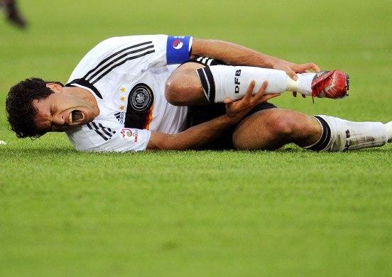 травмирование голеностопа в футболе