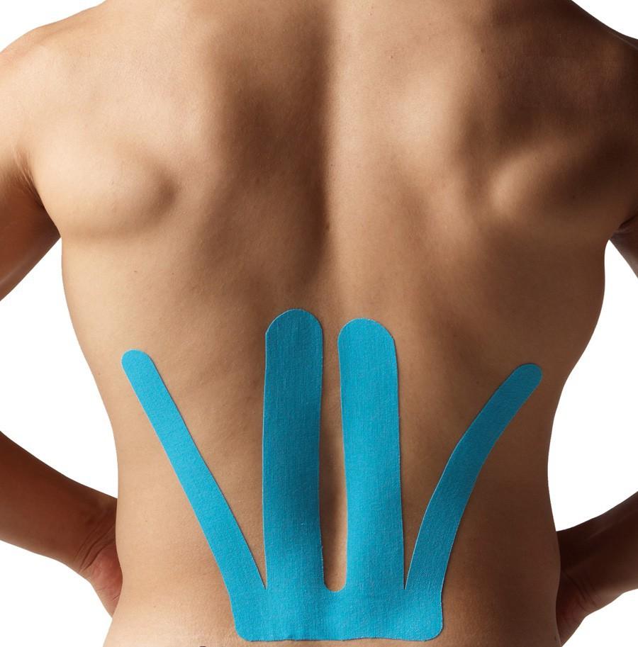 тейпирования позвоночника -  низ спины
