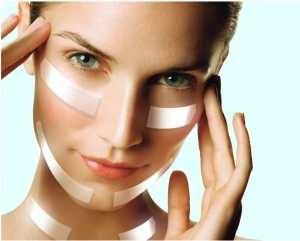 тейпирование лица для подтяжки кожи