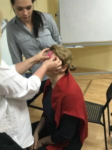 тейпирование лица на семинаре Ларисы Витвиновой