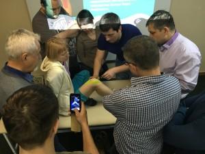 обучение кинезиологичексому тейпированию на семинаре в Иркутске
