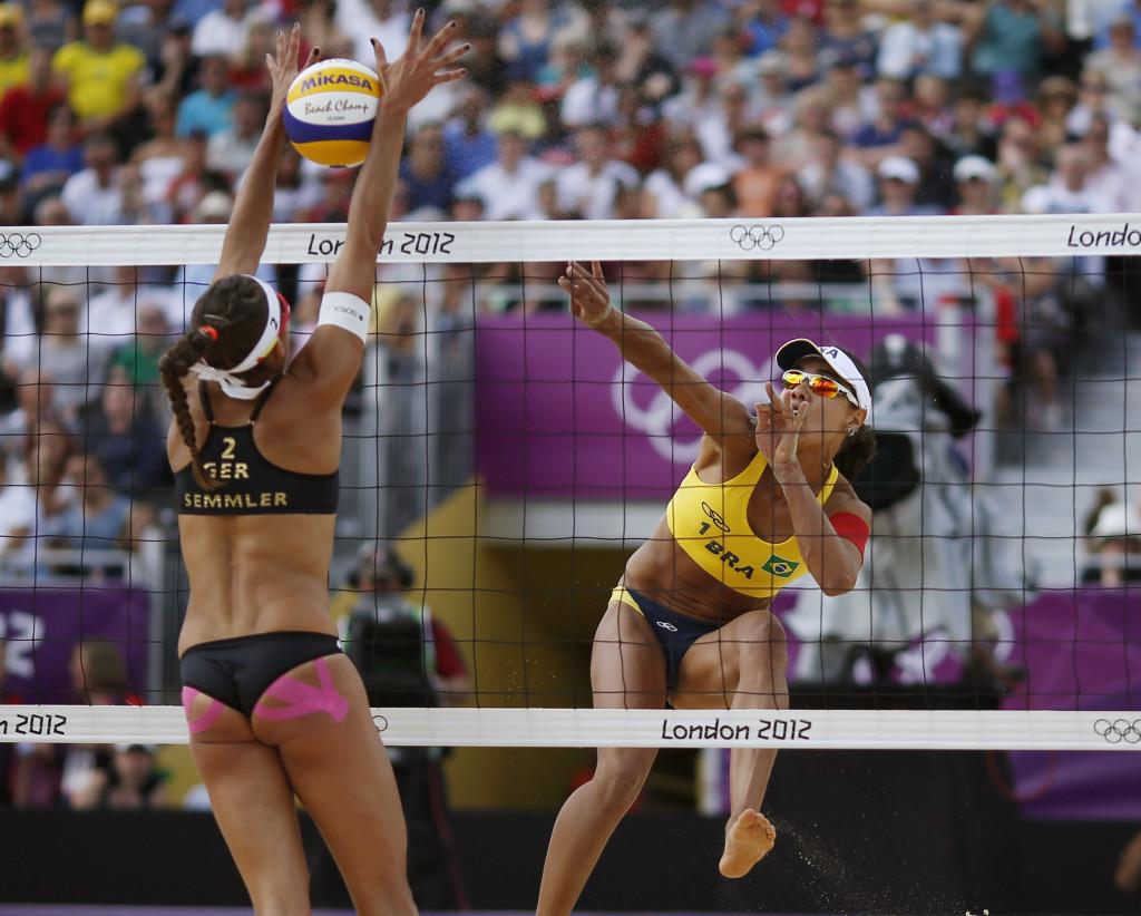 Пример тейпирования в волейболе