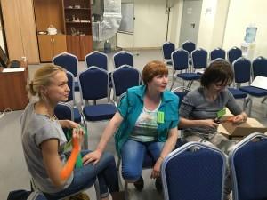 семинар по кинезиологичексому тейпингу в разгаре