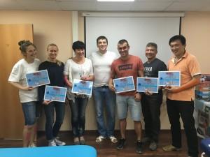 фото участников экспрес-семинара МТС по кинезиотейпированию